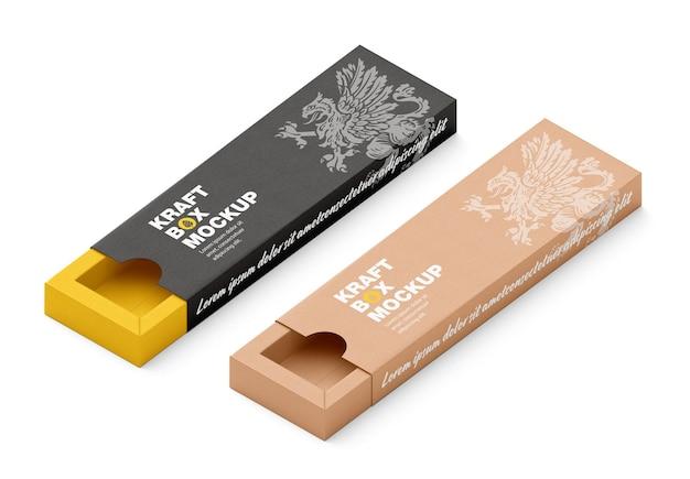 Закрытая картонная коробка 3d mockup box mockup изометрический вид
