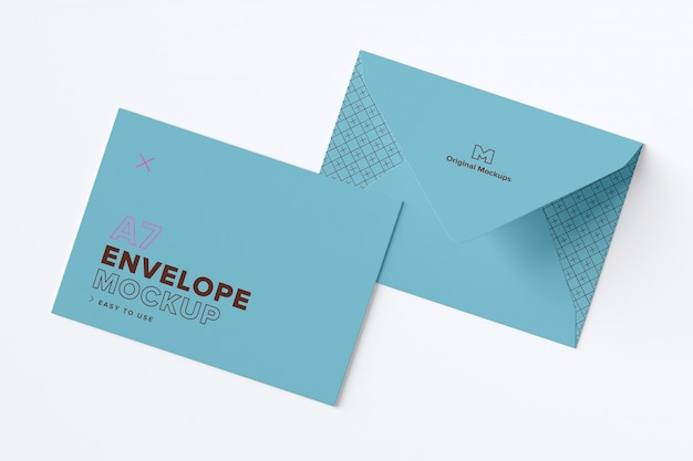 Closed envelope exterior layout mockup