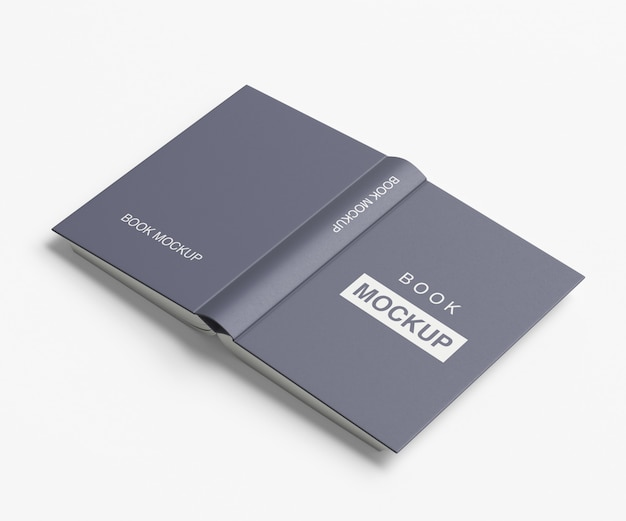 Closed and opened book mockup