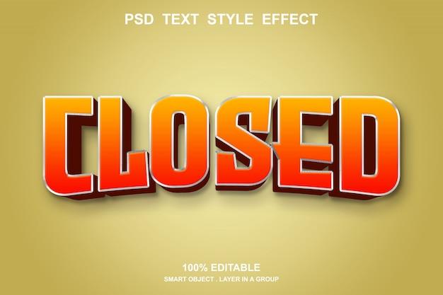 Редактируемый стиль эффекта закрытого текста