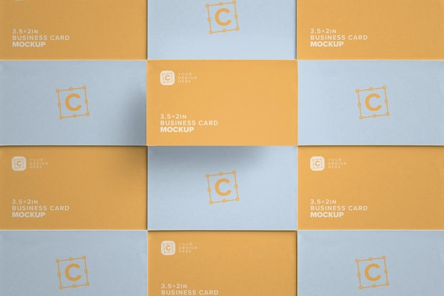 Closeup business card layout for corporate identity