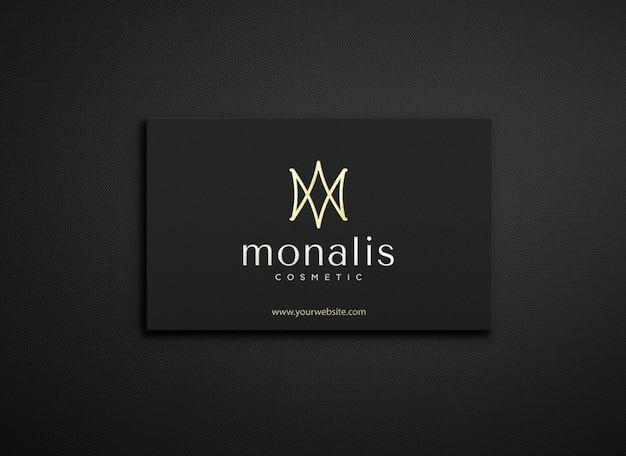 Closeup logo mockup on card
