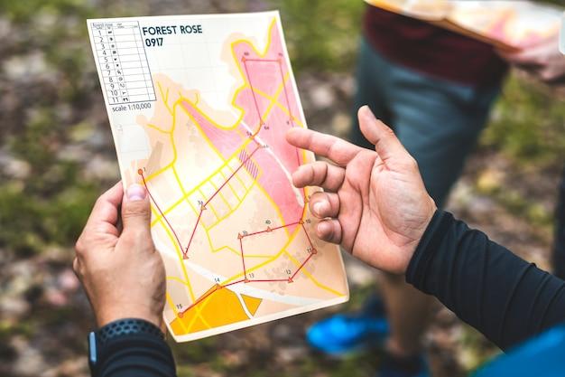 Closeup of  orienteering box location map