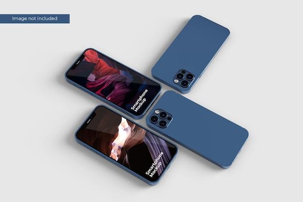 Closeup smartphone mockup