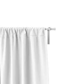 Closeup of white curtain mockup