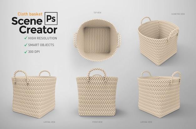 Cloth basket scene creator. 3d