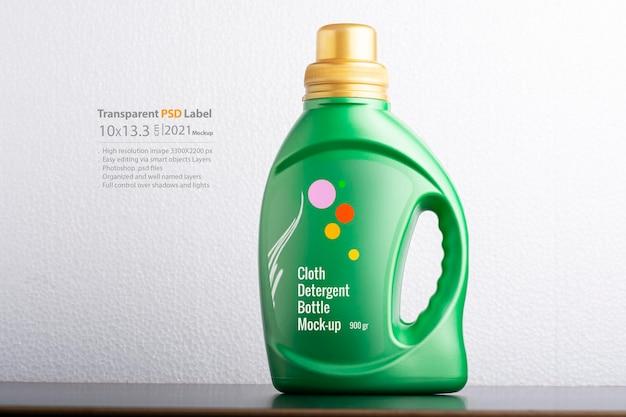 Дизайн макета бутылки с жидким моющим средством для ткани
