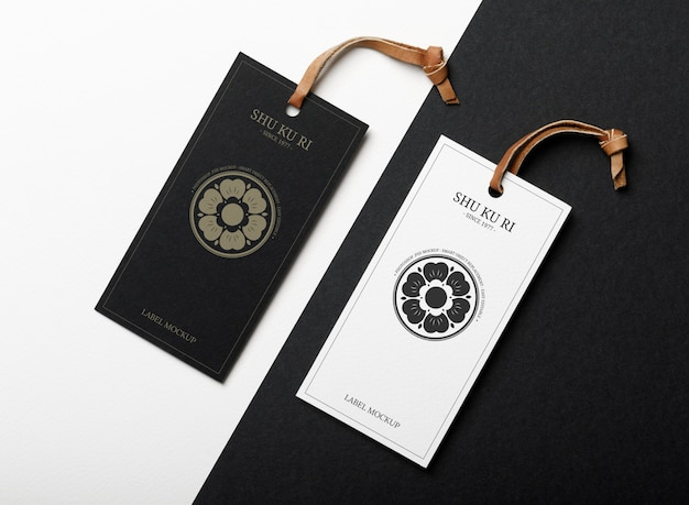 Clothes label tag mockup template