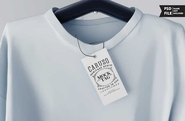 Макет бирки одежды