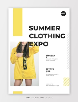 Clothing event flyer template