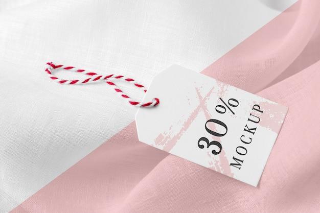 Бирка-макет одежды на мягкой ткани