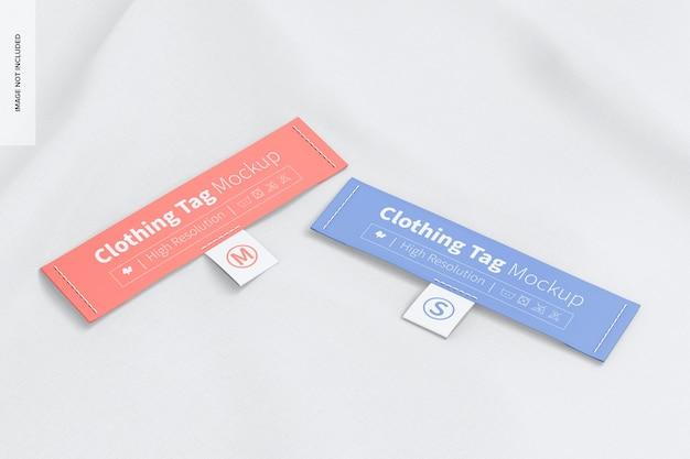 Mockup di etichette per abbigliamento