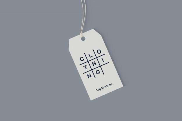 Clothing tag psd mockup