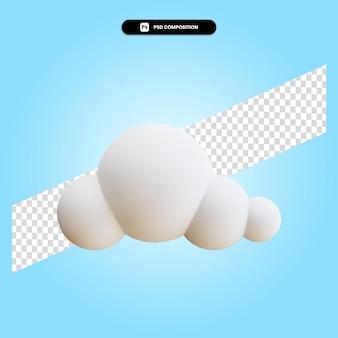 Облако 3d визуализации изолированных иллюстрация