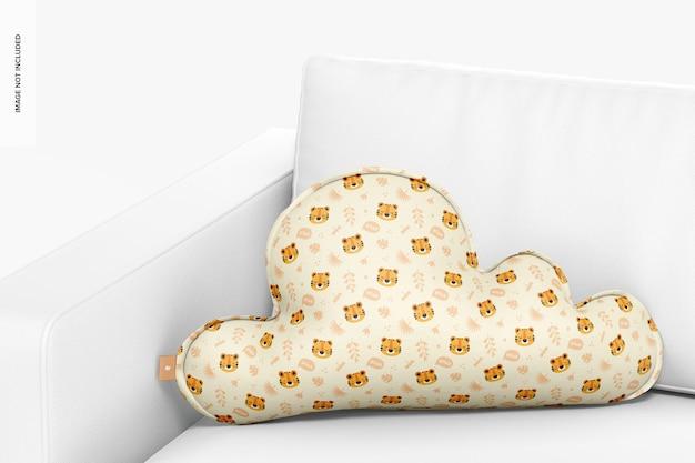 Облако подушки на диване мокап