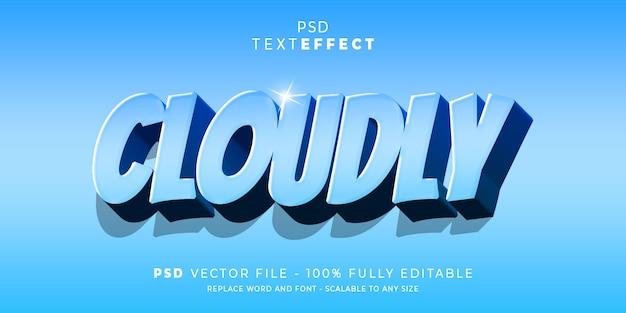 Готовый к использованию облачный текст и стиль шрифта редактируемый шаблон готов к использованию