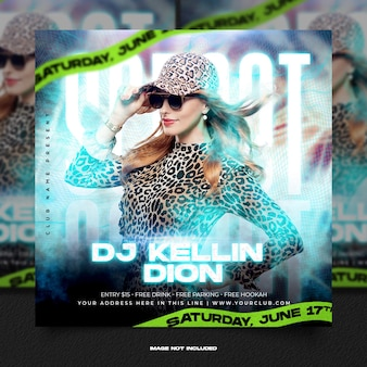 Клуб dj party flyer сообщение в социальных сетях