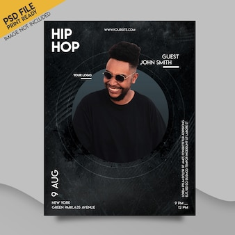 Club event flyer template
