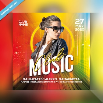 Club music party flyer
