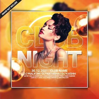Club night dj party flyer template