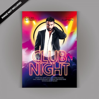 Club night party flyer