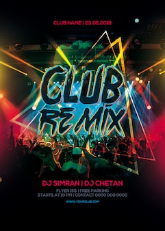 Club remix party flyer
