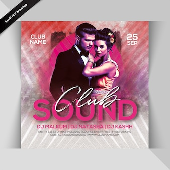 Club sounds party flyer