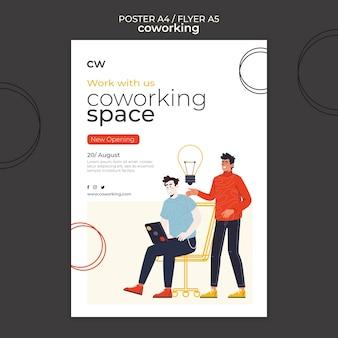 Co-working horizontal print template