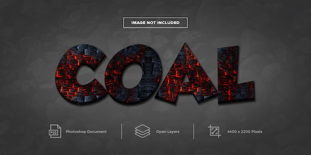Coal text effect design  layer style