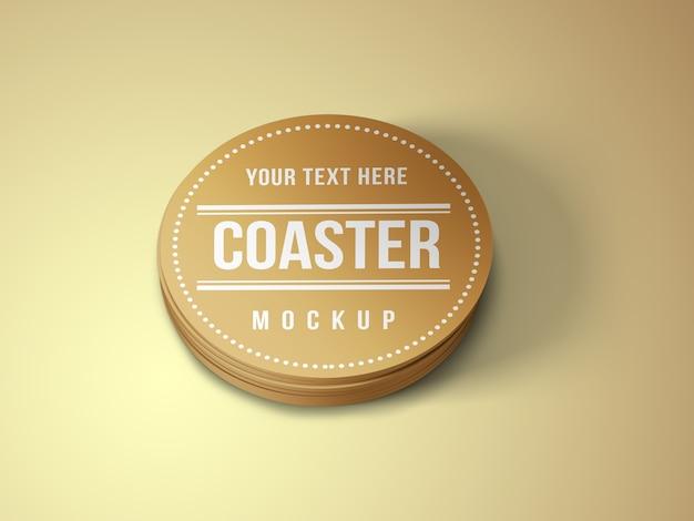 Coaster mockup template
