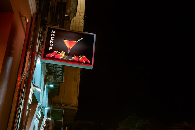 Cocktail billboard mockup