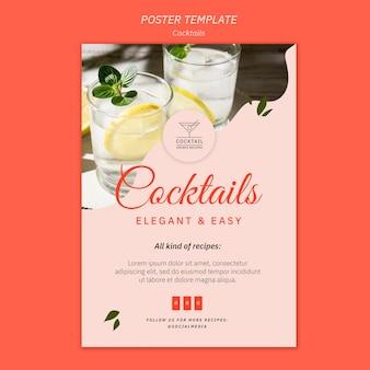 Modello del manifesto del concetto di cocktail