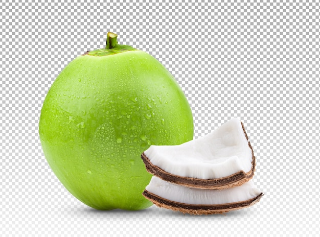 分離されたココナッツ