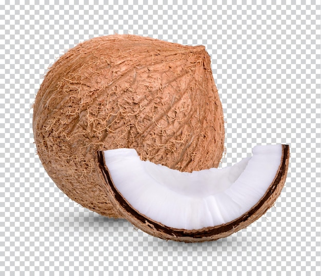 分離されたココナッツ Premium Psd