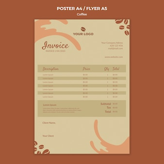 Coffe concept flyer макет