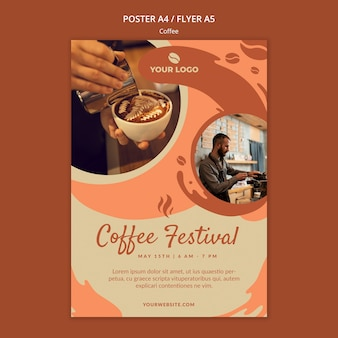 Coffe concept poster mock-up