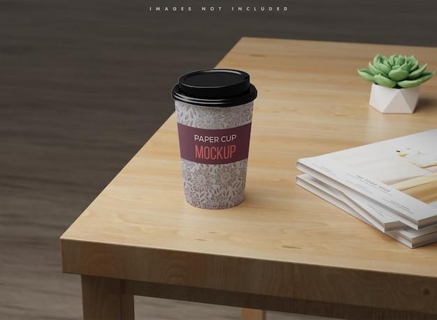 コーヒー紙コップのモックアップ