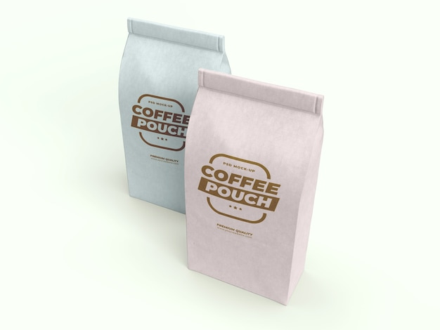 Coffee bag mock-up for coffee, tea and other food items