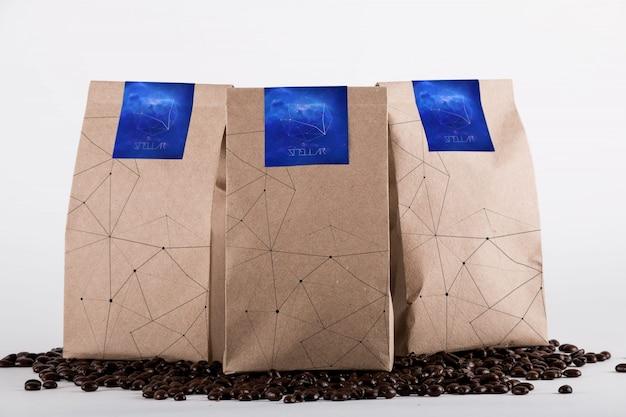 Coffee bag mock up design Premium Psd