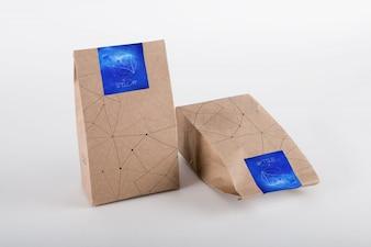 Coffee bag mock up design