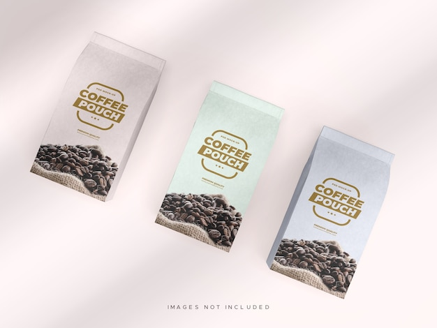 Мокап кофейного пакетика для кофе, чая и других продуктов