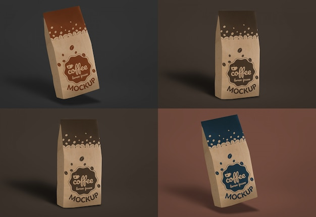 Coffee bag mockup dark
