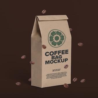 コーヒーバッグのモックアップテンプレート