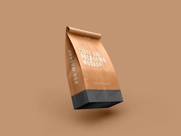 커피 가방 패킷 모형