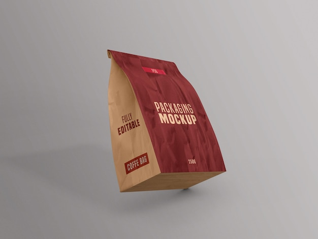 Coffee bag packet mockup
