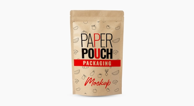 Coffee bag paper pouch mockup