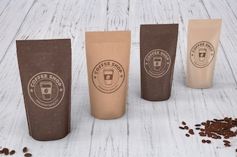 Coffee bags mockup