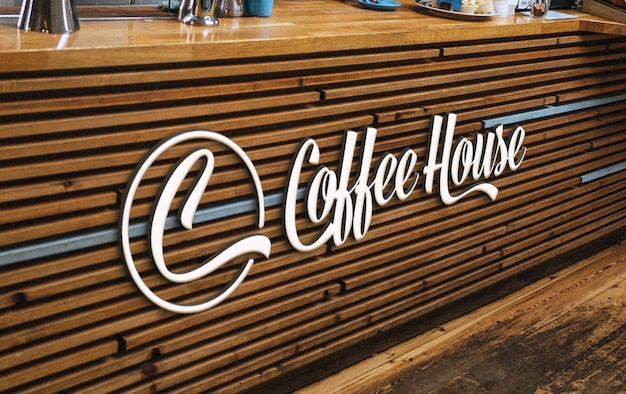 Coffee and bakery branding logo mockup