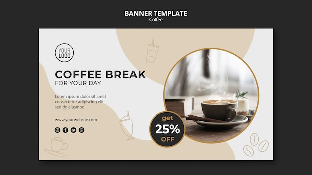 Coffee banner template