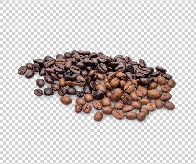 Кофе в зернах изолированные премиум psd